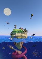 Lowpoly Island by FarlaelD