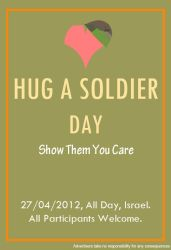 Hug A Soldier Poster by ChesterPalm