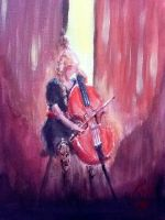 The cello player by IRCSS