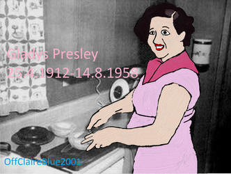 50th death anniversary of Gladys Presley by OffClaireBlue2001
