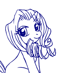 MLP Lineart: Rarity by TEWdrop