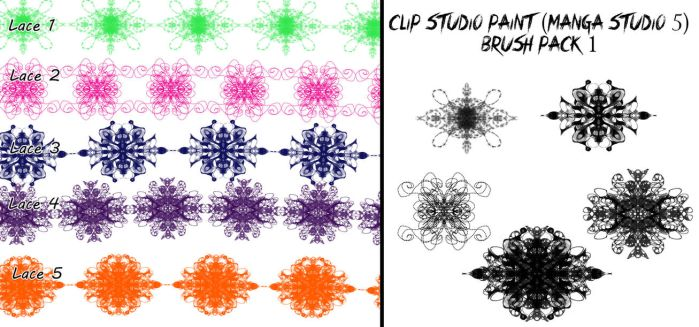 Clip Studio Paint (Manga Studio 5) Brush Pack 1 by Katarina-Kirishiki