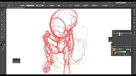 Twitch Livestream #1 Inking with Adobe Illustrator
