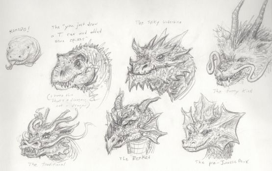 Dragon sketches by xiaorobear