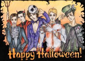 Halloween at 221b by DeadHamster