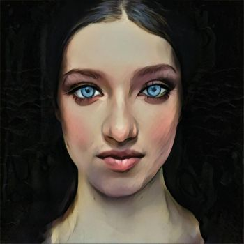 blue eyed girl by weatheredclown