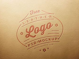 Free Leather Stamping Logo Mockup PSD by Designbolts
