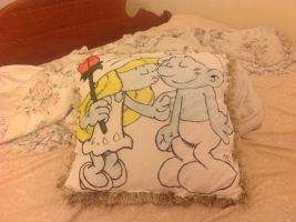 Smurfy pillow is done by RichHoboM3