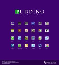 Android icon -- Pudding by kingyoART