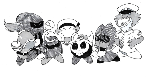 Inktober 2018 Day 3 - The Meta-Knights by Chenanigans