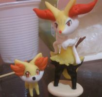 Fennekin and Braixen