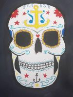 nautical sugar skull by TaitGallery