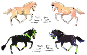 Foals for savannauni! by Drasayer