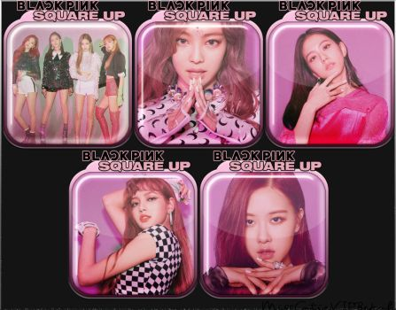 BLACKPINK Square Up Icons by MissCatieVIPBekah