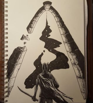 Inktober 12 Shattered by EthereelN1k