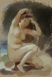 The Toilet of Venus (Study) by All-The-Fish-Here