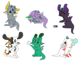 Meep Gift Art Batch by CrazyCat1231