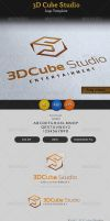 3D Cube Studio Entertainment Media Logo by ExtremeLogo