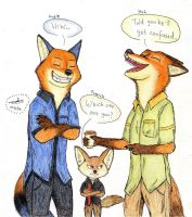 Zootopia Art :Finnick is Confused by AgiAutobots