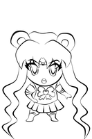 Sailor Moon Chibi lineart by Saphinel