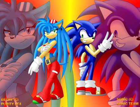 Becky and Sonic :art trade: by becky-lf4FAN-CLUB