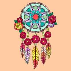 Rose Dreamcatcher. by catdragon4