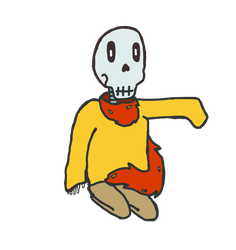 Smol Papyrus in a Big Sweater by FadingRiver