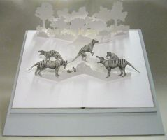 Thylacine pop-up book by riikka