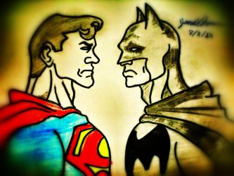Superman and Batman....-Skoob 8/8/14 by SkoobyForever