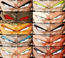 Dragon Ball Eyes : Saiyans by Gothax