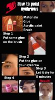 How to paint eyebrows by Glory-chan