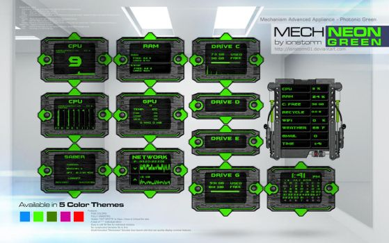 Mechanism Advanced Appliance - Photonic Green v1.1 by ionstorm01