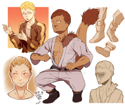 Ojiro Shetches by RDStarTie