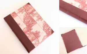 Large Leather Journal Red Countryside by GatzBcn
