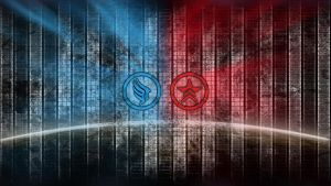 Red v.Blue mass effect wallpaper by shatinn