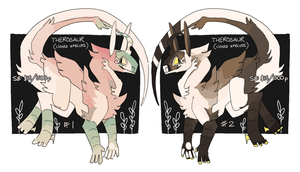 Therosaur Christmas auctions! by ricebat