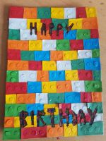 LEGO themed birthday card. by MadameButterfly94