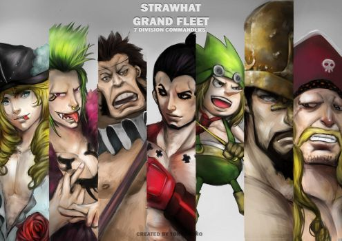 Strawhat Grand Fleet 7 Division Commanders by tonyohoho