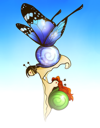 The Epic Butterfly Snail by FlyingPings