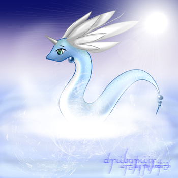 Dragonair doodle by Melodiith