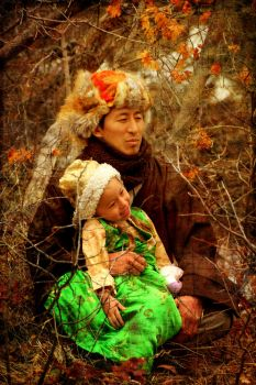 Kunga and his Daughter by 3feathers