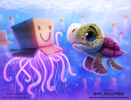 Daily Paint 2005# Box Jellyfish by Cryptid-Creations