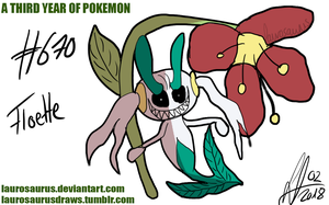 A third year of pokemon: #670 Floette