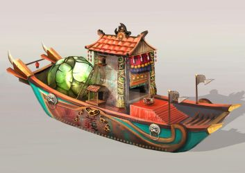 Temple Boat by Lacerare