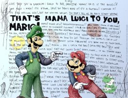 Angus's Mama Luigi in Color by Apkinesis