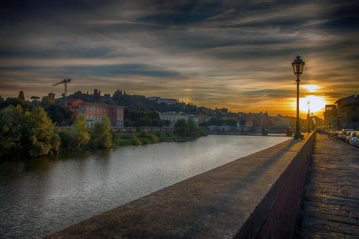 Sunset over Florence by CitizenFresh