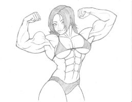 The-Muscle-Girl-Fan's Avia shows off by CMGjim