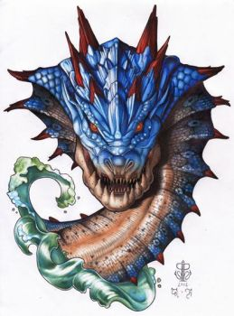 Monster Hunter - Lagiacrus - SOLD by King-Qurupeco