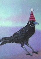 Party Crow aceo by askoi