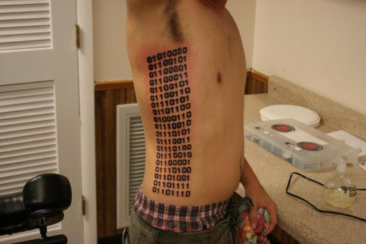 Binary Tattoo by sirmason